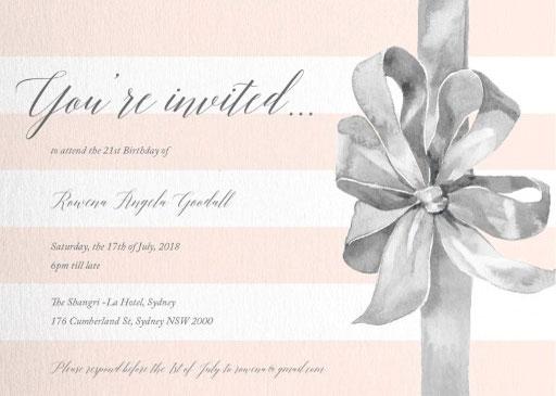 Birthday Ribbon - Birthday Invitations