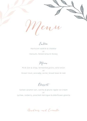 Leaves - Menu Card