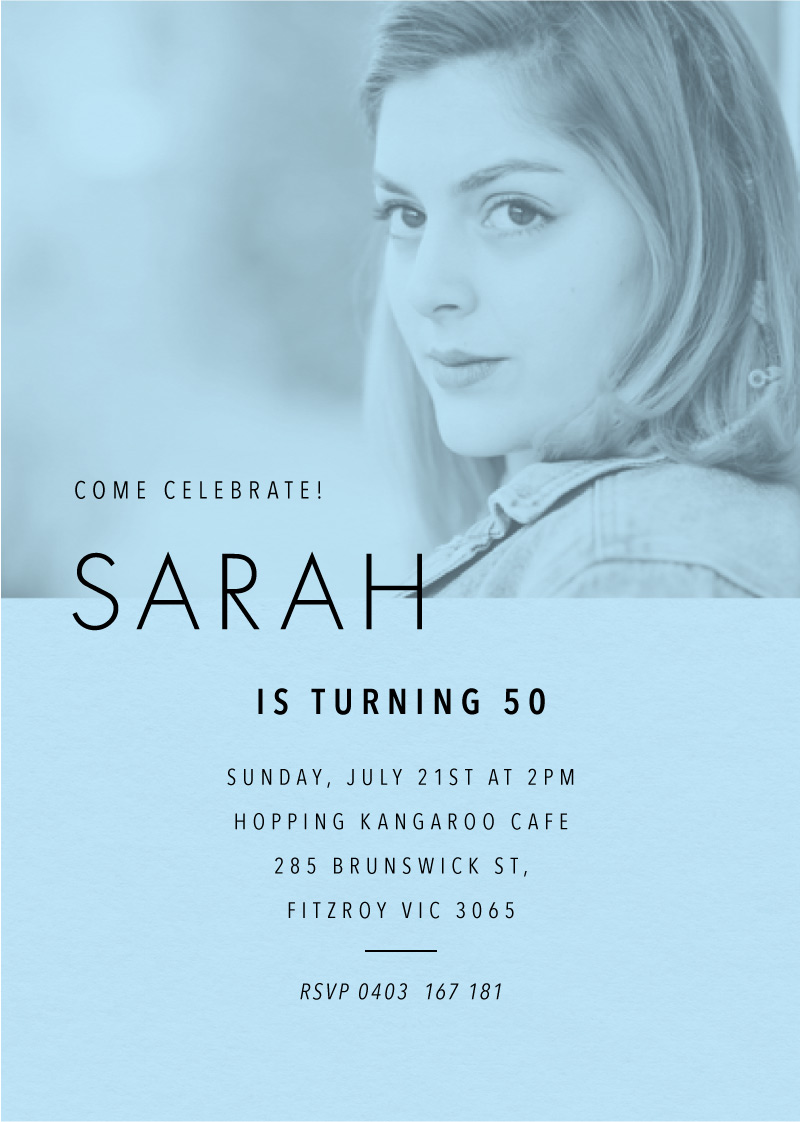 Grace - Birthday Invitations