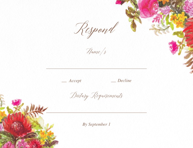Flowers Hill - RSVP Cards