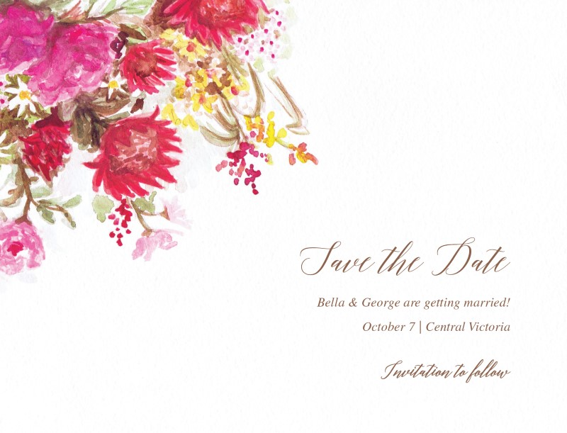Flowers Hill - Save The Date