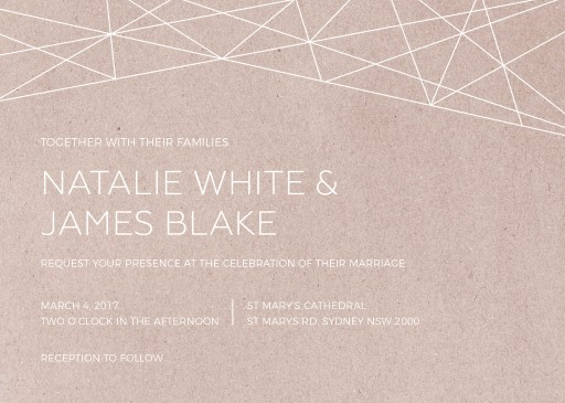 Geometric Copper - wedding invitations