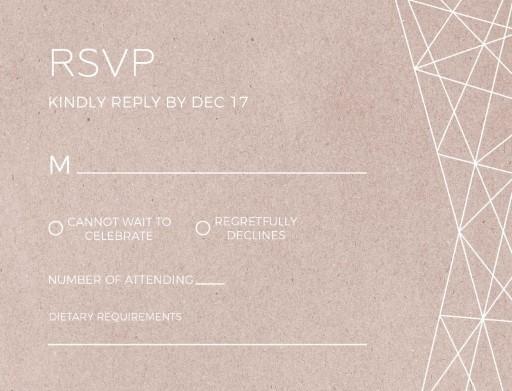 Geometric Copper - RSVP Cards