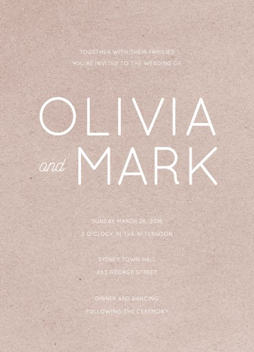 Modern - wedding invitations
