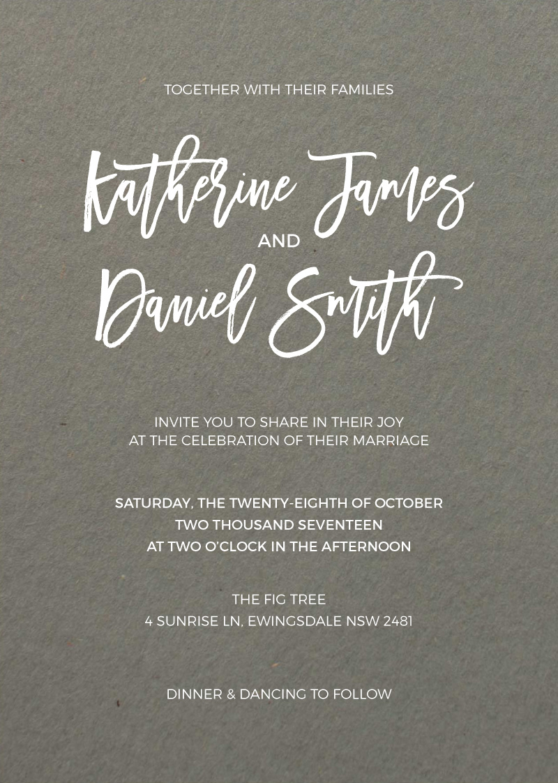 Simply Carefree - Invitations
