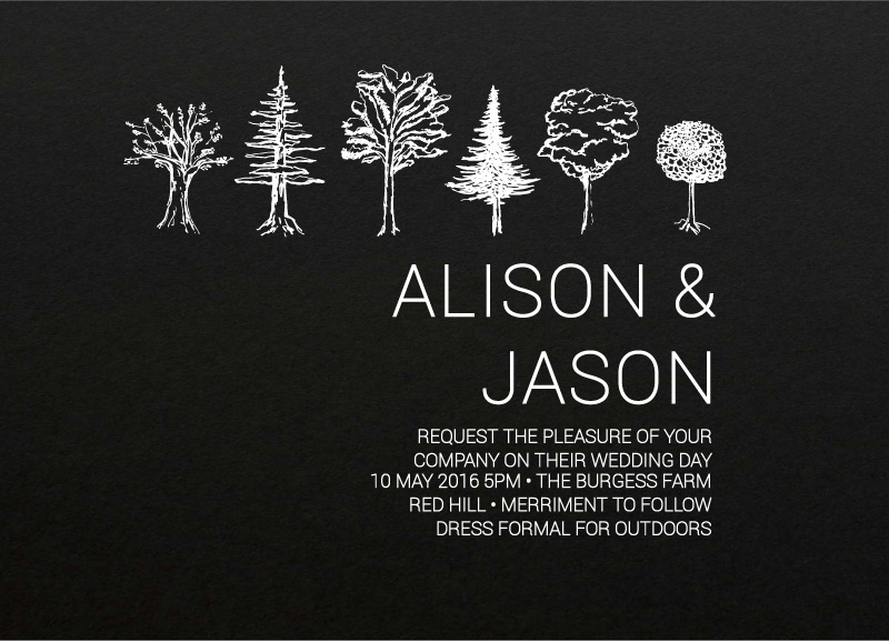 Paper Trees - Invitations