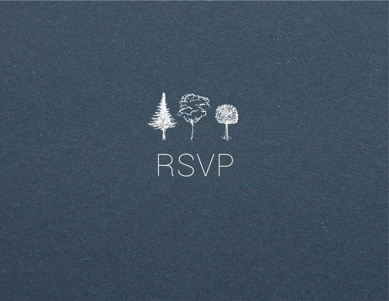 Paper Trees - RSVP Cards