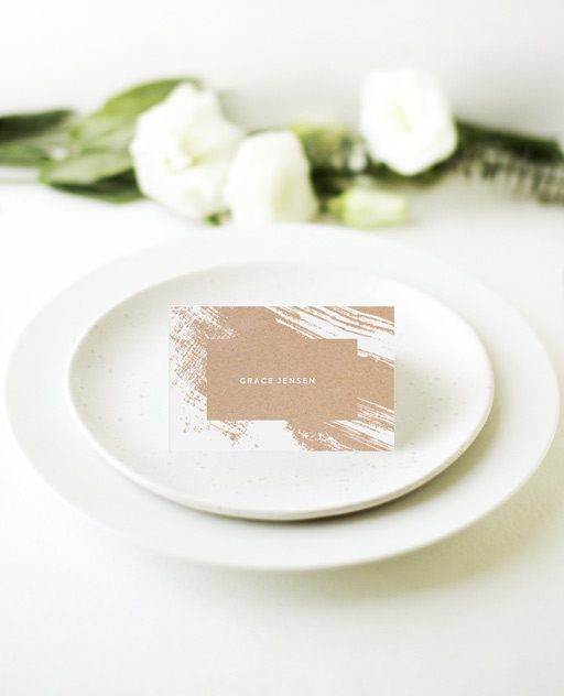 White Paint - Place Cards