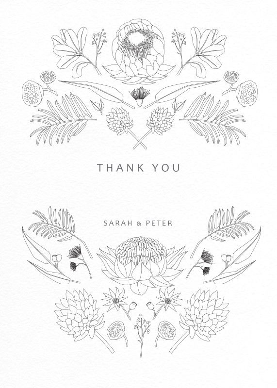 Australian Native Colour In - Thank You Cards