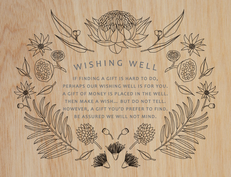 Australian Native Colour-In - Wishing Well