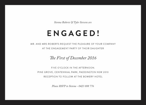Minimal - engagement invitations