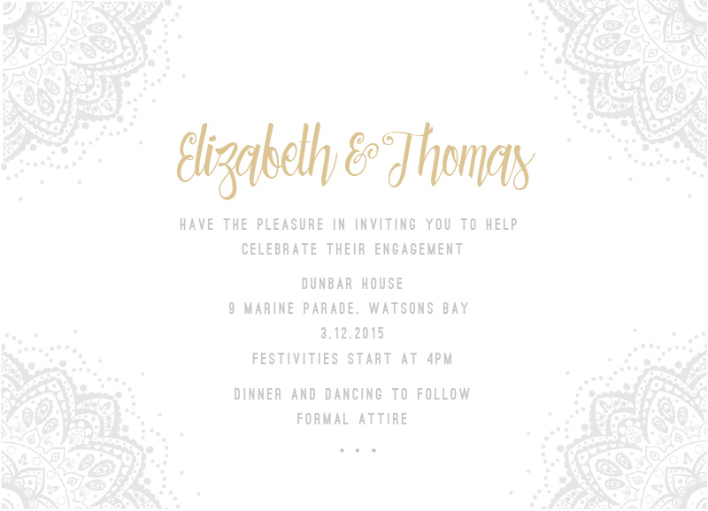 Elegant Collection - engagement invitations