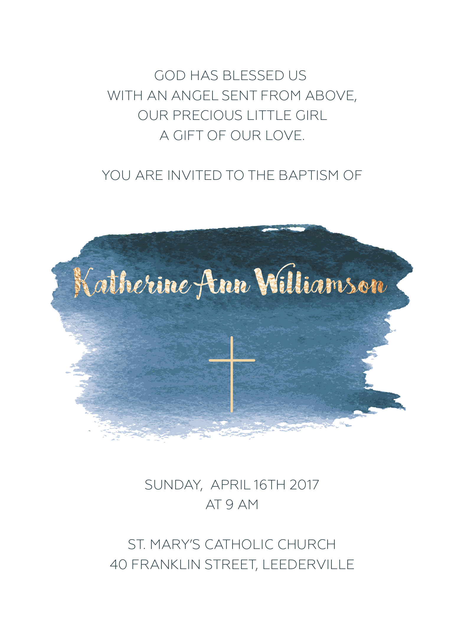 Born of Water - Christening Invitations