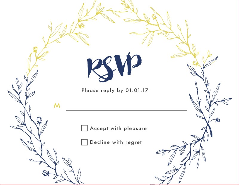 Navy Autumn - RSVP Cards