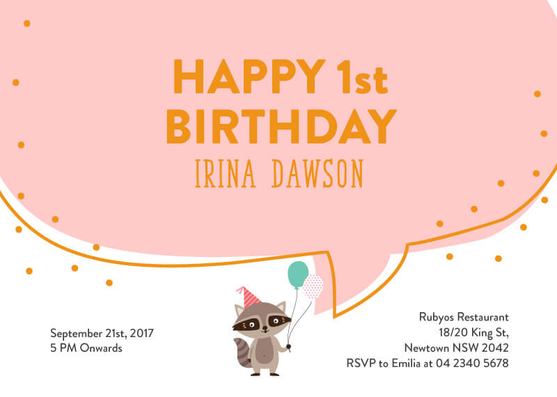 Birthday Fox - Animal Birthday Invitation