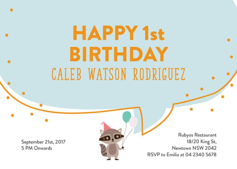 Birthday Fox - Animal Birthday Invitation