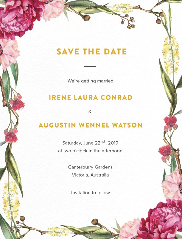 Garden Party - Save The Date