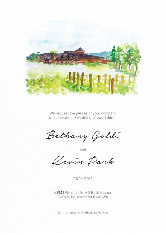The Rustic Wedding Barn - Invitations