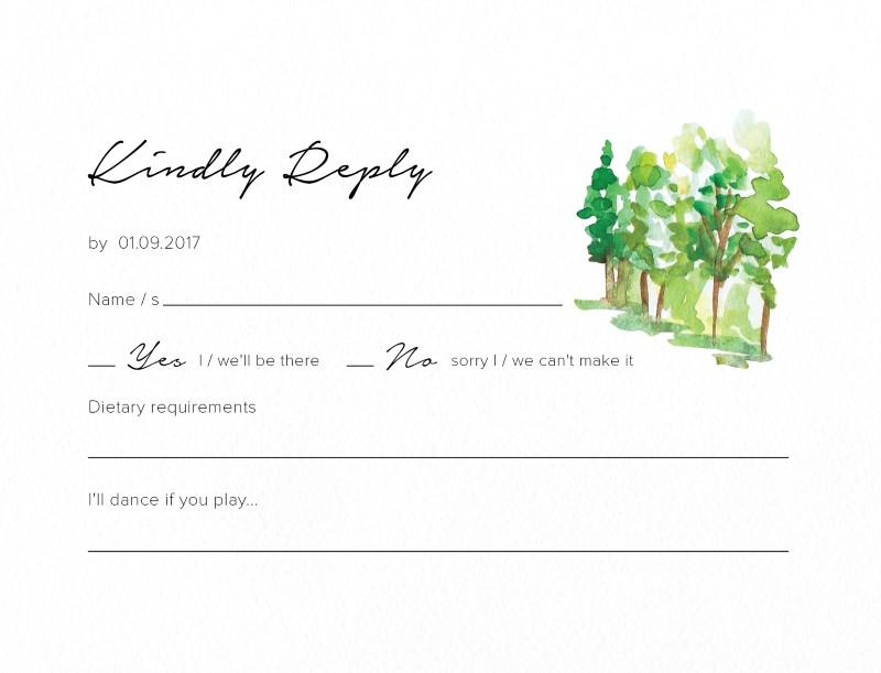 The Rustic Wedding Barn - RSVP Cards