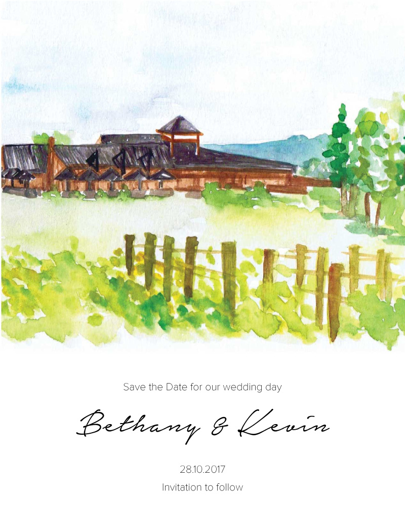 The Rustic Wedding Barn - Save The Date