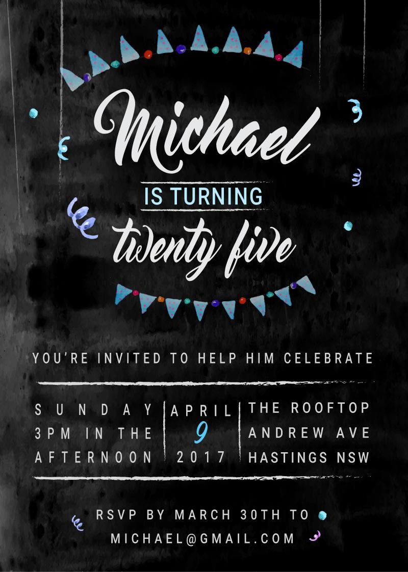Watercolour - Birthday Invitations