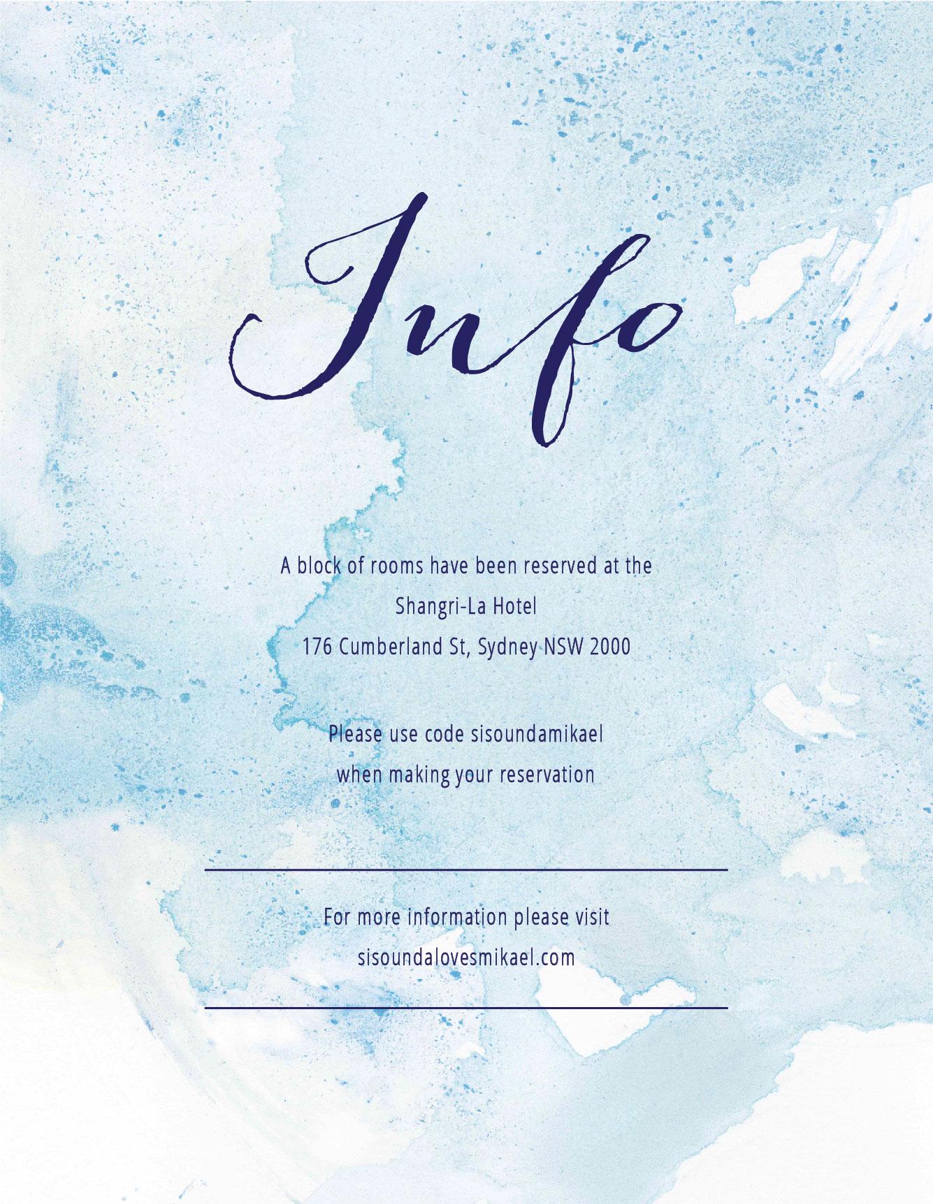 Splash - Information Card