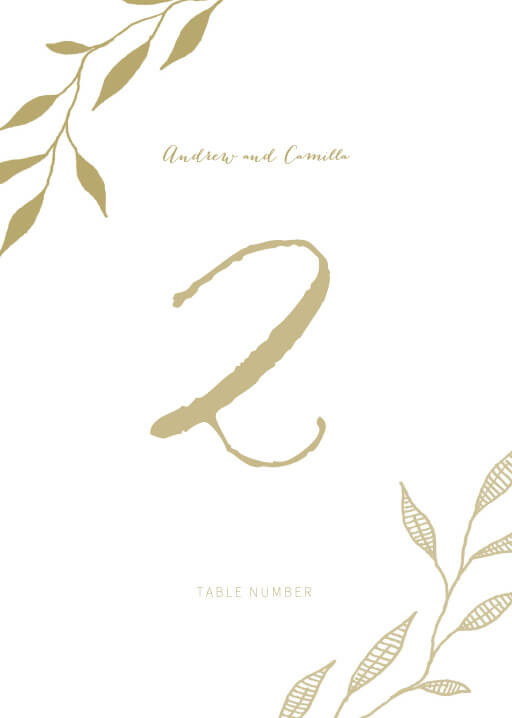 Leaves - table numbers