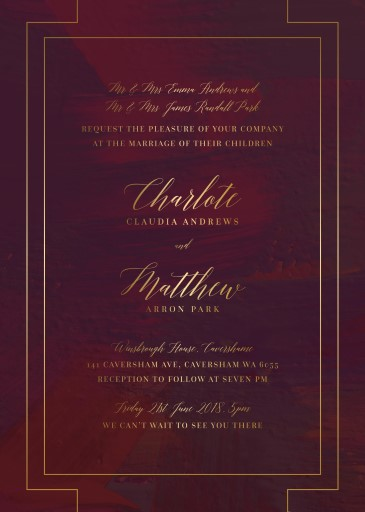 Ron Burgundy - Wedding Invitations