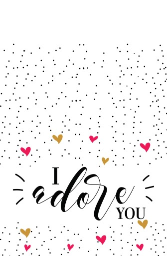 I adore you - Greeting Cards