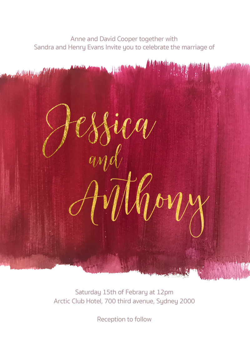 Pinot Noirs and Chardonnays - Wedding Invitations