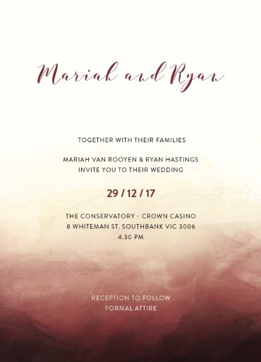 Mystical Sunset - Wedding Invitations
