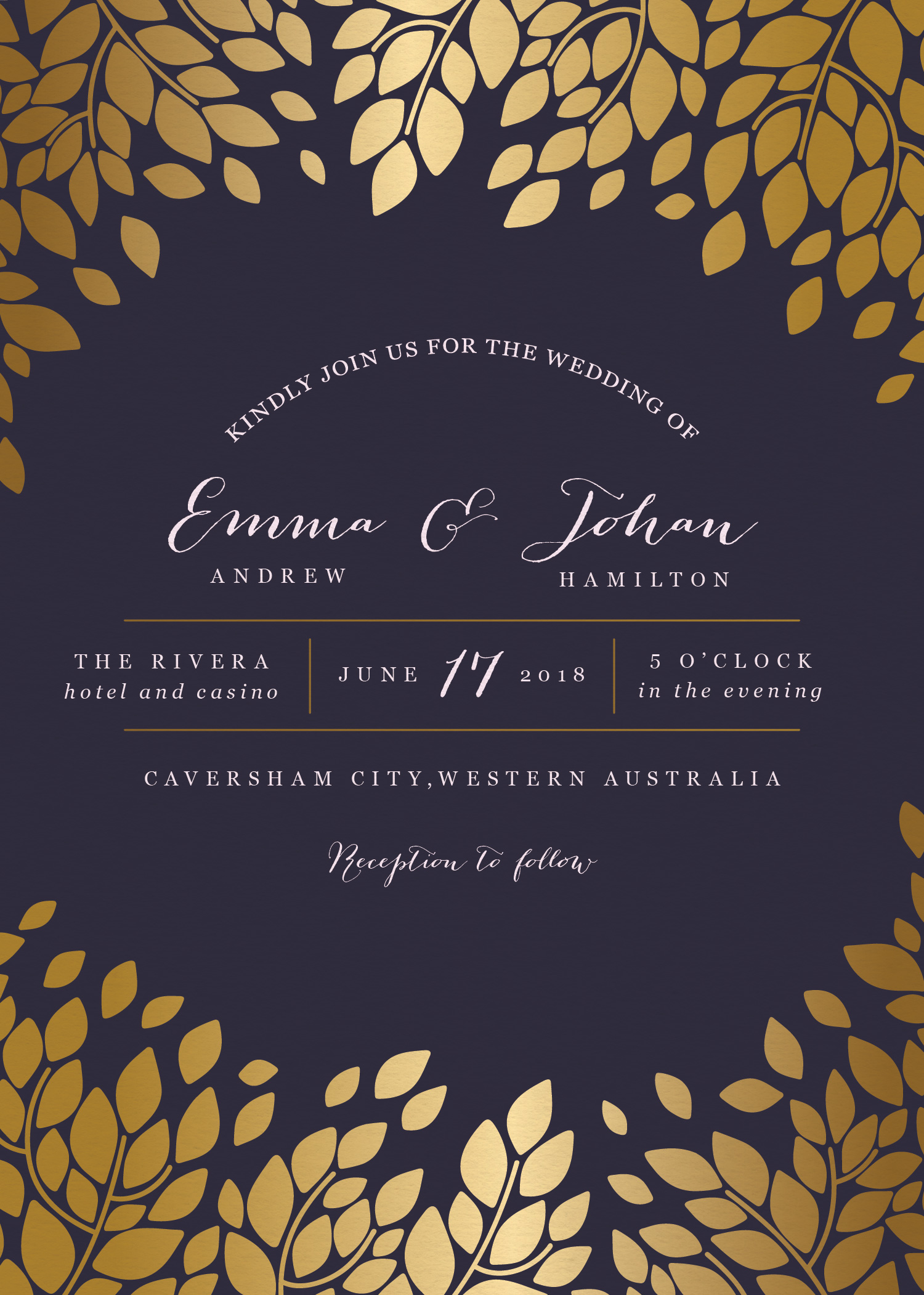 Caesar Leaf - Wedding Invitations