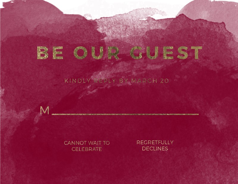 Be Our Guest - RSVP