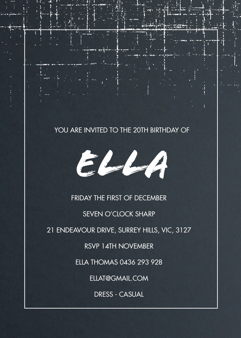 Abstract speckle - Birthday Invitations