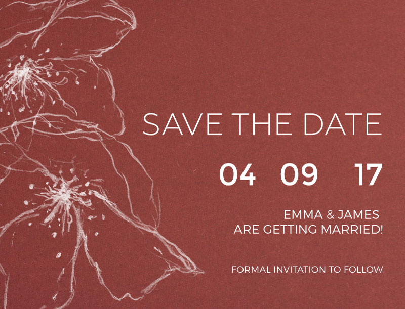 Bohemian Burgandy - Save The Date