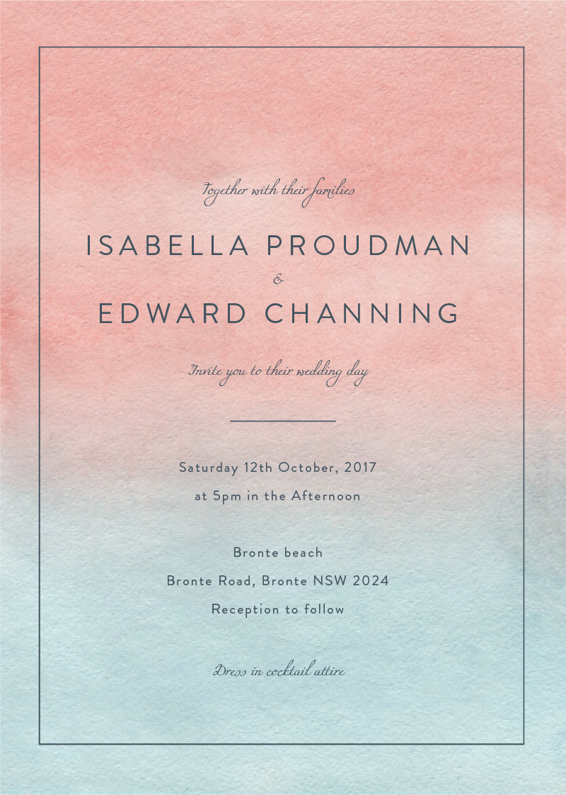 Sunset - Wedding Invitations