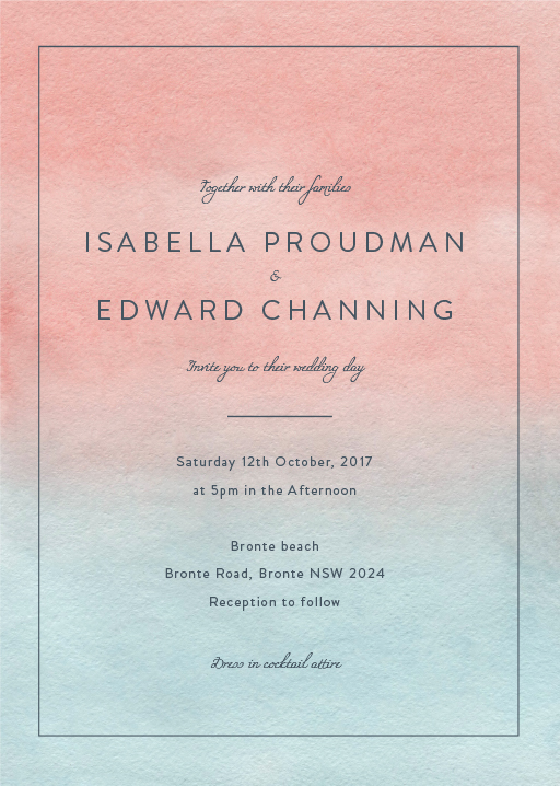 Sunset Wedding Invitations - wedding invitations