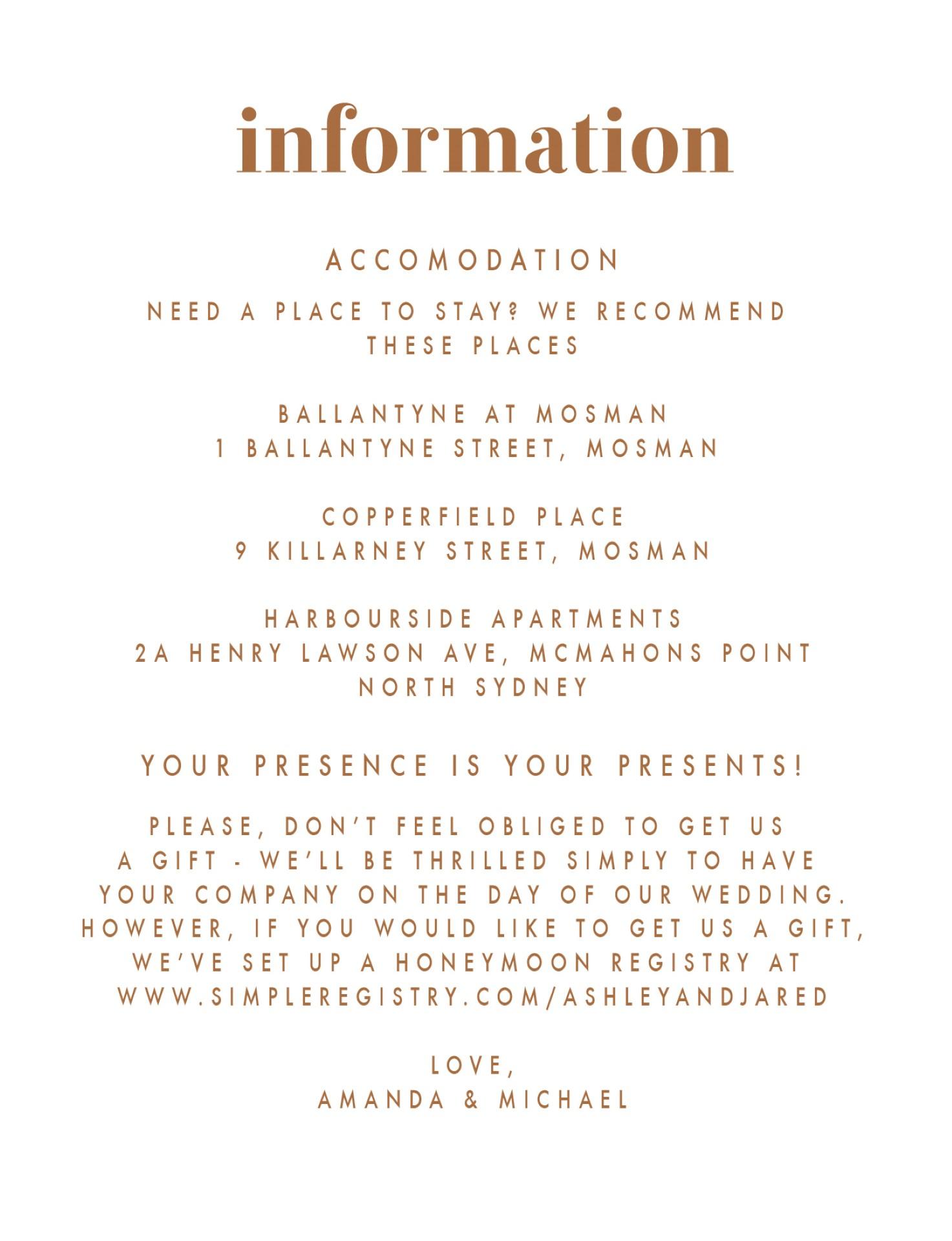 Minimalist Spot - Information