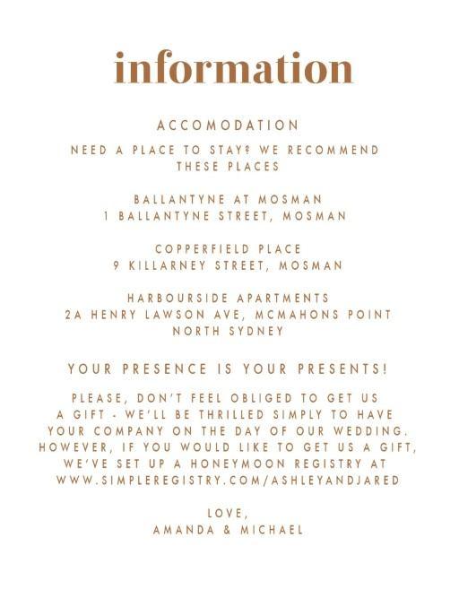 Minimalist Spot - Information Cards