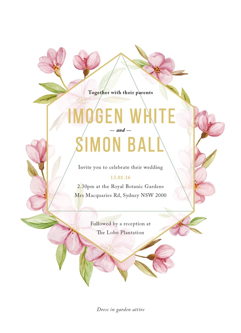 Wreath - Wedding Invitations