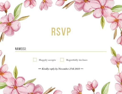 Wreath - RSVP Cards