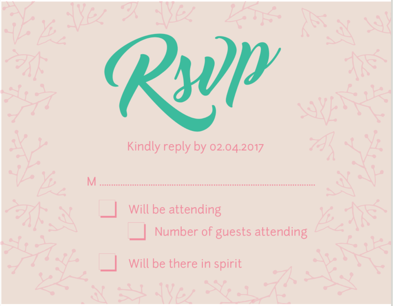 Simple Wreath Wedding - RSVP