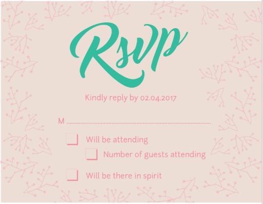 Simple Wreath Wedding - RSVP Cards