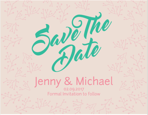Simple Wreath Wedding - Save The Date