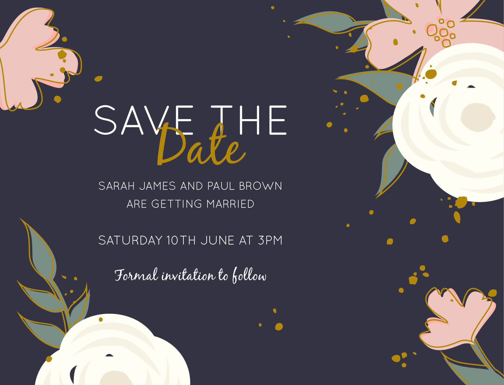 Golden Flowers - Save The Date