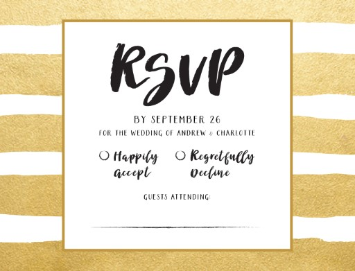 Brush and Bling - RSVP Cards