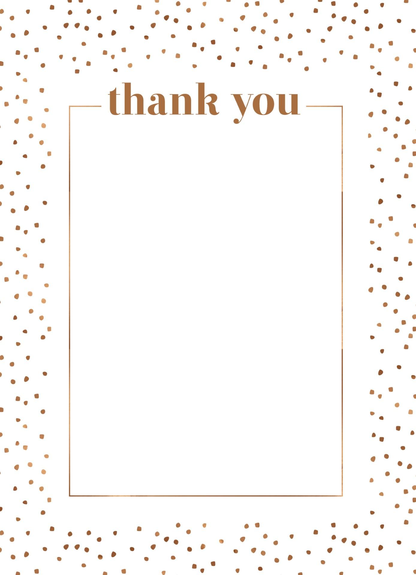 Minimalist Spot - Thank You Card