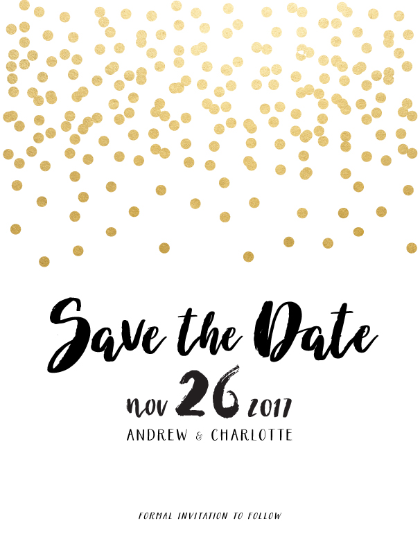 Brush and Bling - Save The Date
