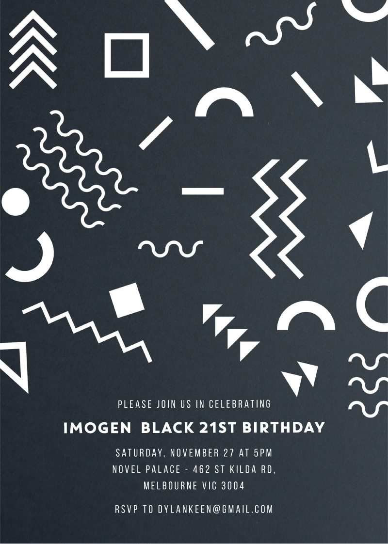 Punky Brewster - Birthday Invitations