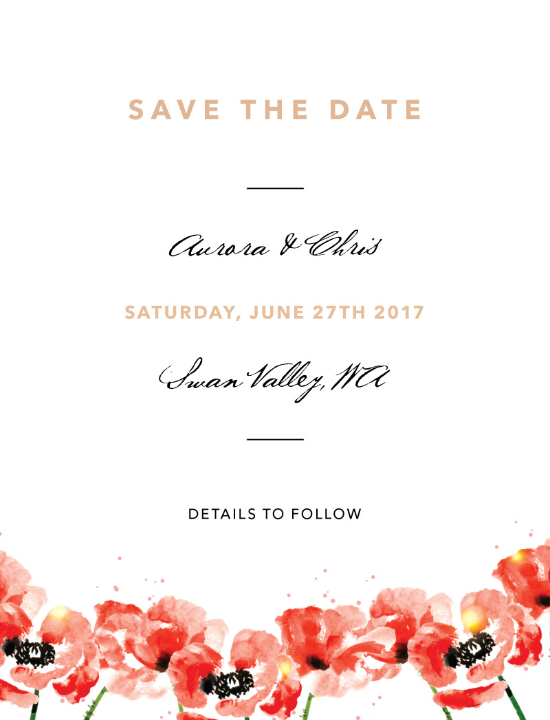 Poppies - Save The Date